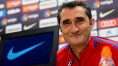 Ernesto Valverde en rueda de prensa. (EFE)