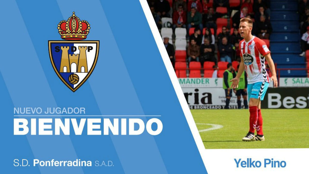 Yelko Pino ficha por la Ponferradina (Twitter)