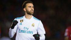 Borja Mayoral celebra un gol con el Real Madrid. (Getty)