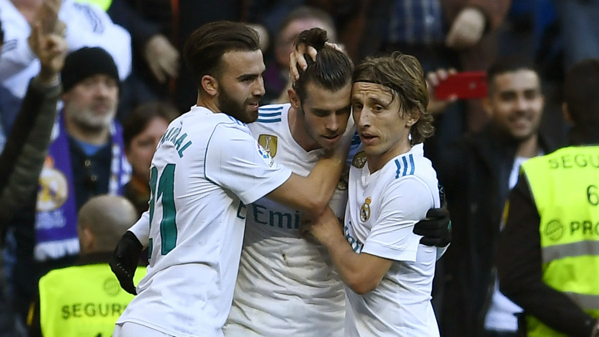 Bale celebra su gol al Deportivo. (AFP)