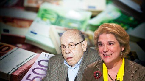 El ex presidente del Palau de la Música, Félix Millet, y la independentista Pilar Rahola.