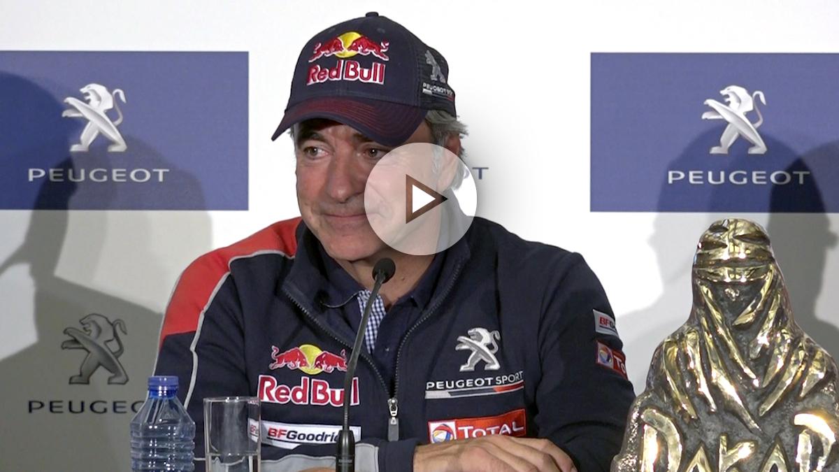 El reciente campeón del Dakar 2018, Carlos Sainz. (Foto: Enrique Falcón)