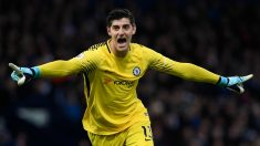 Courtois, en un partido con el Chelsea. (Getty)