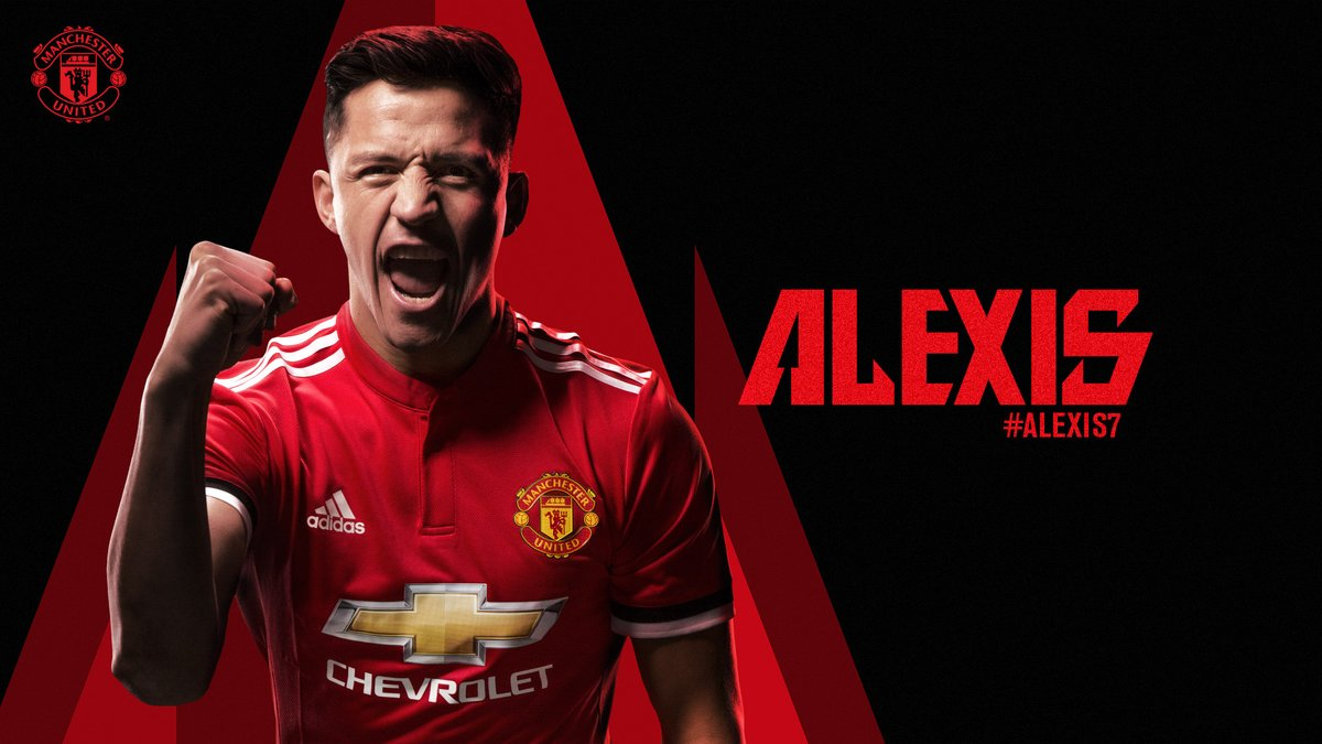 Alexis Sánchez, nuevo jugador del Manchester United.