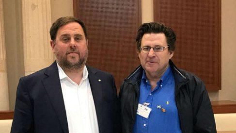 Oriol Junqueras (ERC) y Pedro Altamirano (ANA)