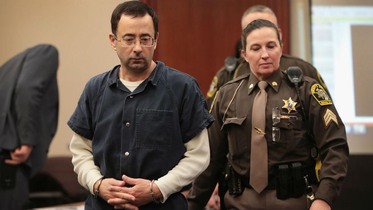 Larry Nassar durante el juicio. (AFP)