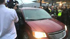 Carles Puigdemont a su llegada a Copenhague. (Foto: OKDIARIO)