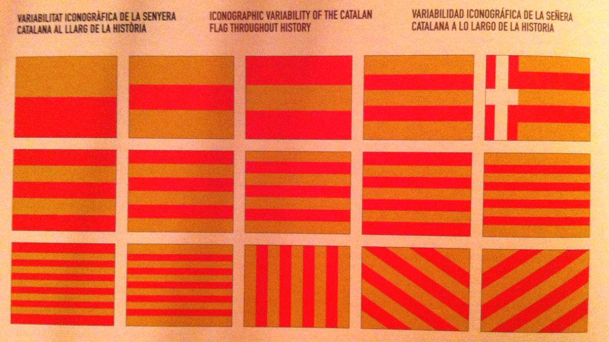 La variabilidad iconográfica de la señera catalana a lo largo de la historia según los independentistas