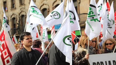 csif manifestación funcionarios