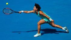 Carla Suárez, durante en el Open de Australia. (Getty)