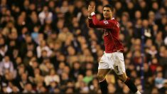 Cristiano Ronaldo durante su etapa en el United, 2003-2008 (Getty)