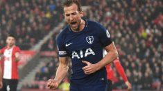 Harry Kane celebra su último gol ante el Southampton. (Getty Images)