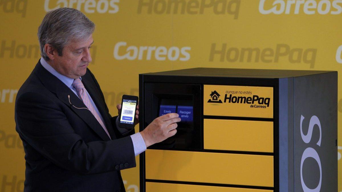 Javier Cuesta Nuin, presidente de Correos presentando el servicio HomePaq. Foto. Correos