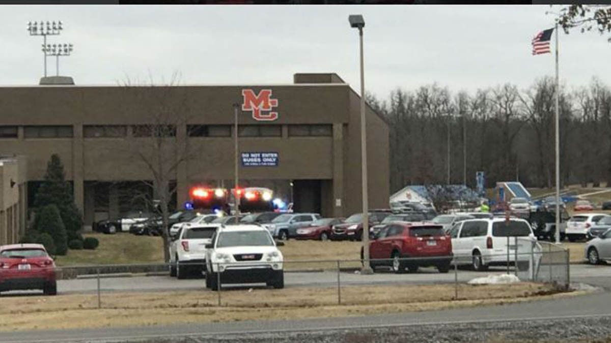 Escuela de Kentucky donde se produjo el tiroteo.
