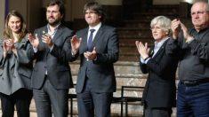 Serret, Comín, Puigdemont, Ponsatí y Puig, los cinco diputados catalanes separatistas fugados a Bruselas.