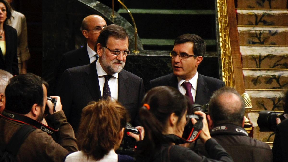 El presidente del Gobierno, Mariano Rajoy, junto a José Luis Ayllón. (Foto: Moncloa)