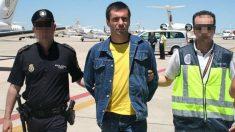 El ex jefe de ETA preso Ibon Ferández de Iradi, alias Susper, en un traslado a España.