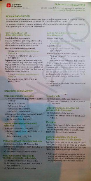 Colau se olvida del español para cobrar los impuestos municipales y envía una guía solo en catalán