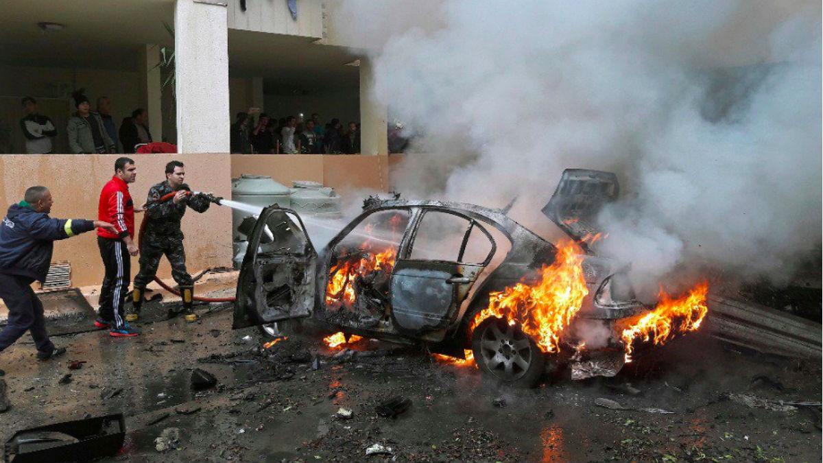 Atentado en Bengasi, Libia.