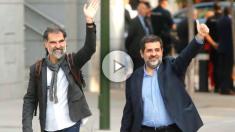 Jordi Sànchez y Jordi Cuixart. (Foto: EFE)