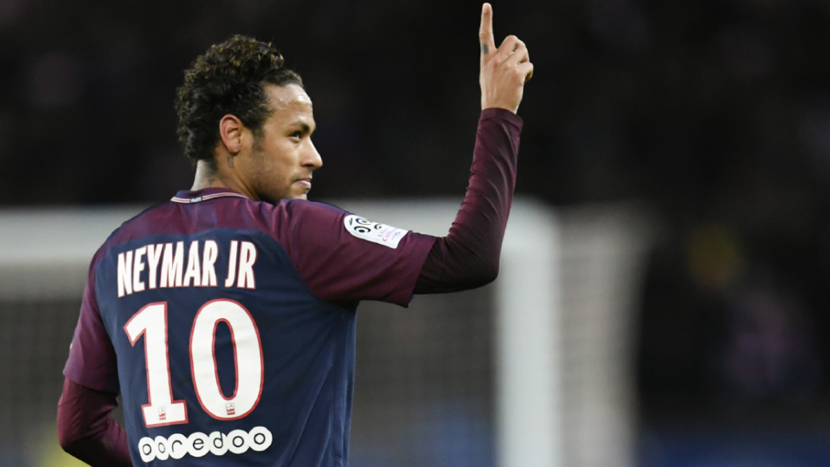 Neymar celebra un gol con el PSG. (AFP)