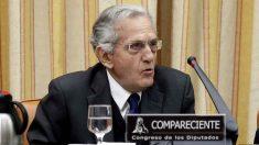 El ex ministro Rafael Arias Salgado, en el Congreso ed los Diputados. (EFE)
