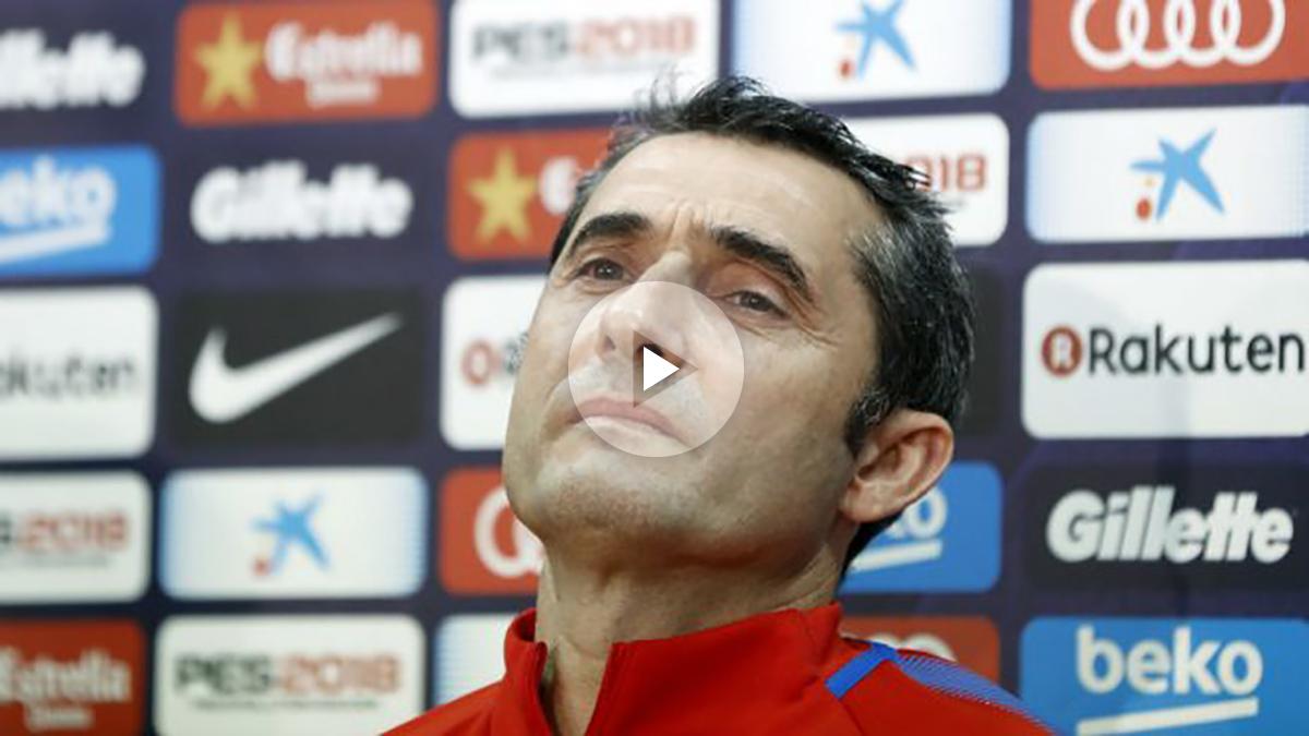 Ernesto Valverde durante una rueda de prensa. (EFE)