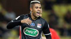Mariano celebra uno de sus dos goles al Mónaco. (AFP)