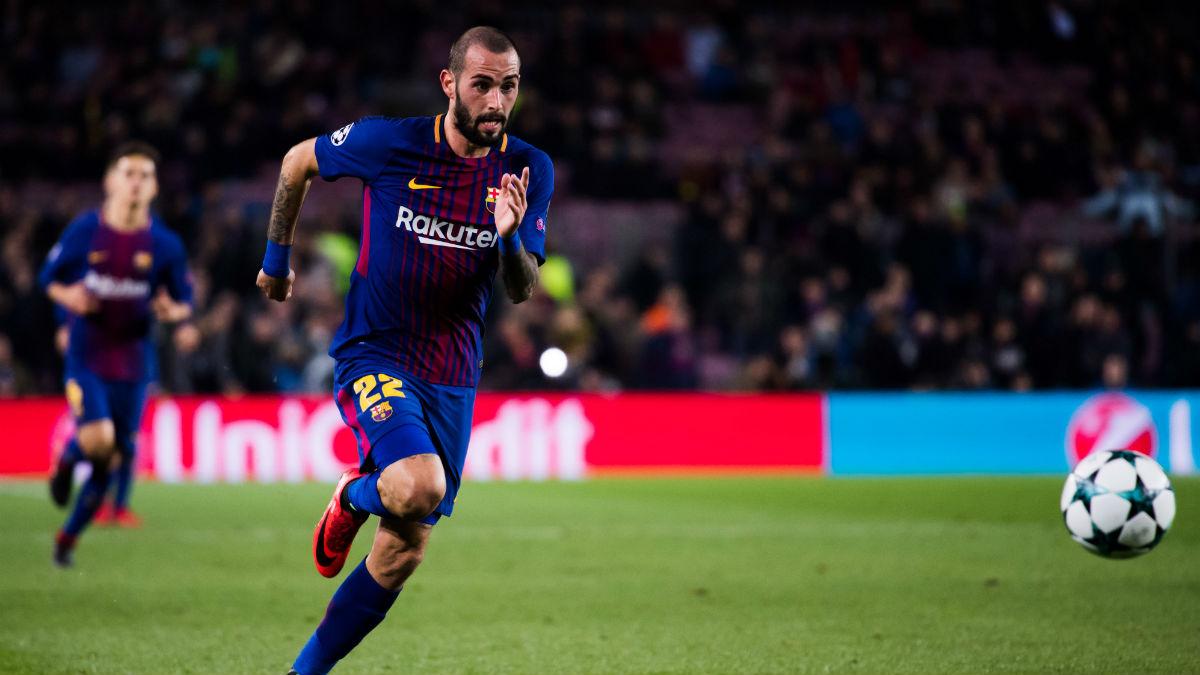 Aleix Vidal, durante un encuentro con el Barcelona. (Getty)