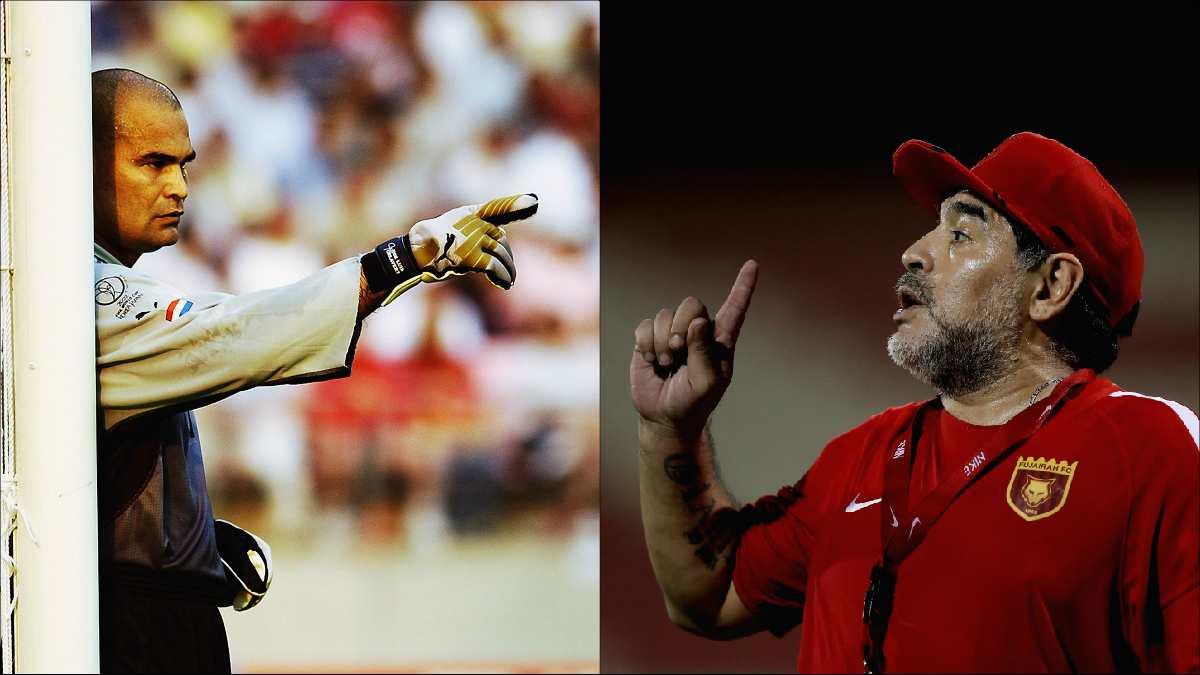 Chilavert y Maradona.