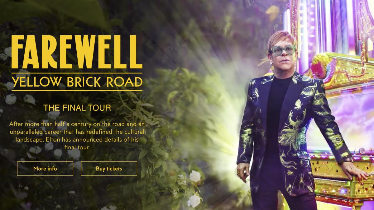 Web de Elton John.