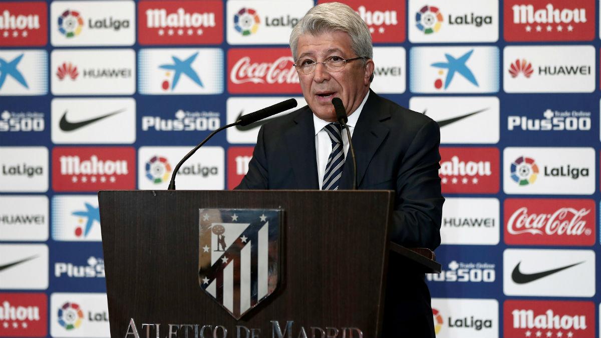 Enrique Cerezo, durante un acto del Atlético de Madrid. (Getty)