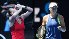 Halep y Wozniacki.