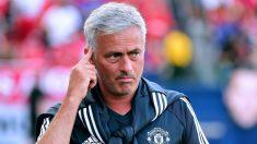 José Mourinho en un partido con el Manchester United. (Getty)
