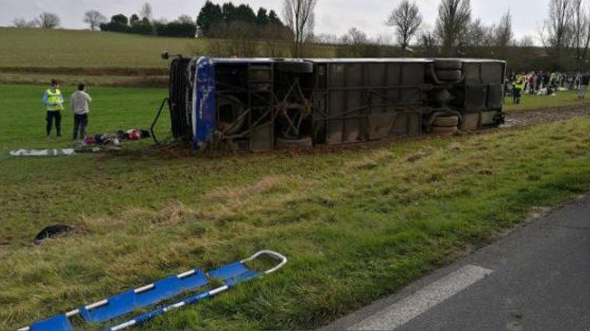 Accidente de autobús en Manciet