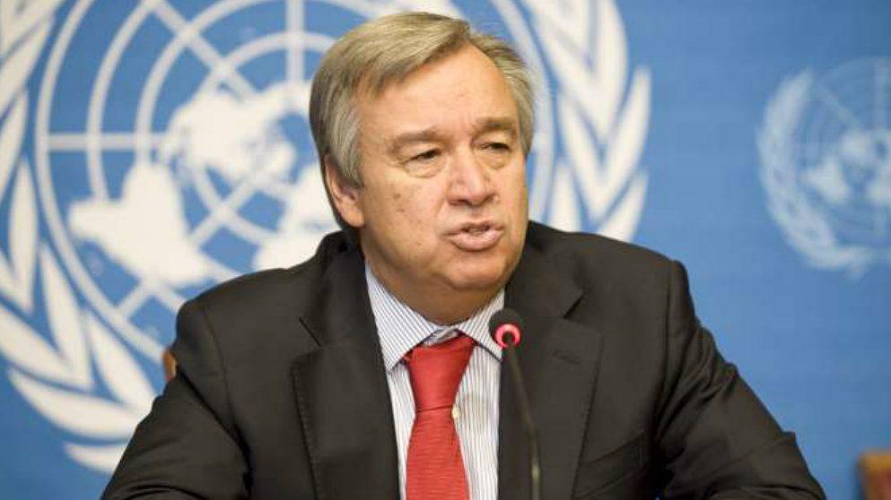 António Guterres, secretario general de la ONU. (AFP)