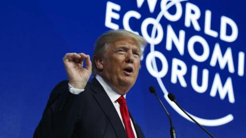 Donald Trump en Davos en 2018.
