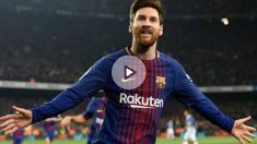 Messi celebra un gol ante el Espanyol. (AFP)