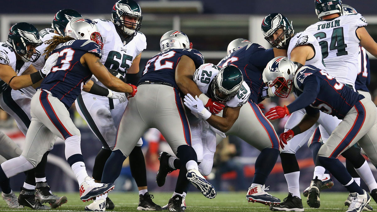 New England Patriots y Philadelphia Eagles (Getty)