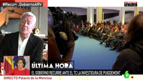 Jorge Verstrynge en el programa 'Al rojo vivo' de La Sexta.