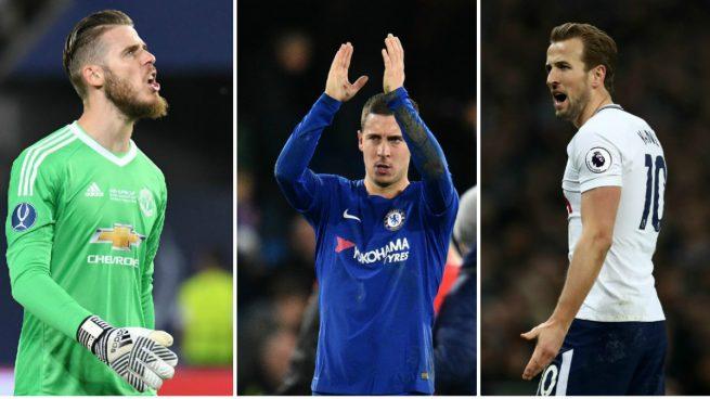 El Real Madrid prepara un triplete en la Premier: De Gea, Hazard y Kane