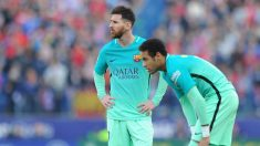 Leo Messi, junto a Neymar. (Getty)