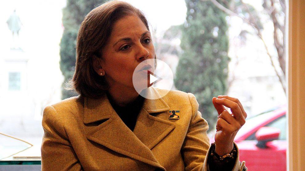 La senadora María del Rosario Guerra, en entrevista con OKDIARIO. (Foto y vídeo: E. Falcón)