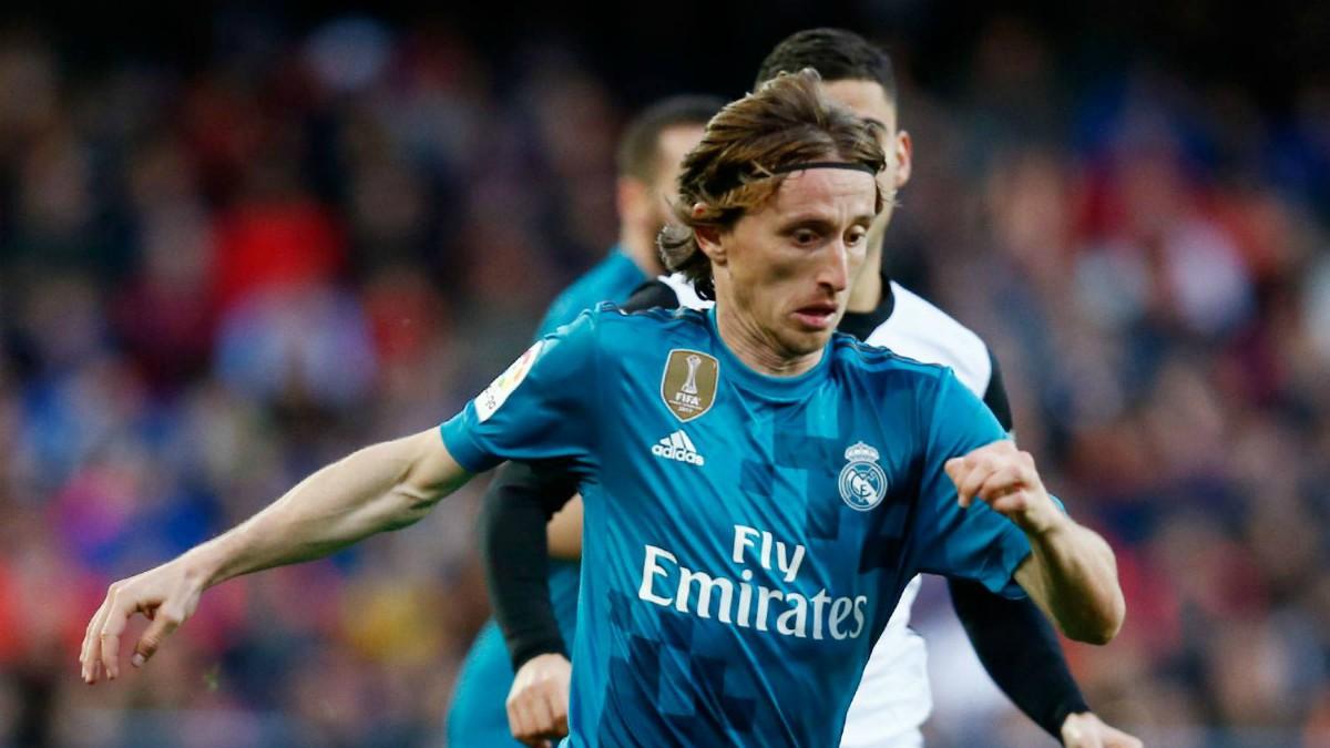 Modric, en acción en el Valencia vs Real Madrid. (realmadrid)