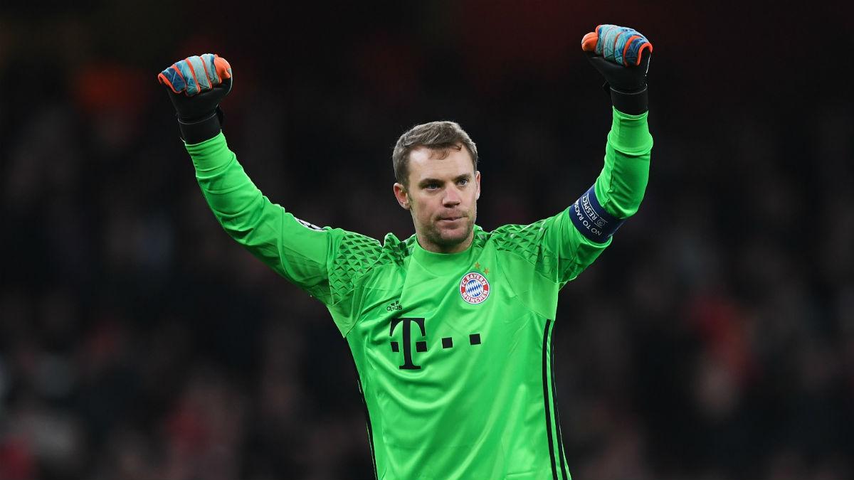 Neuer celebrando la victoria del Bayern (Getty)