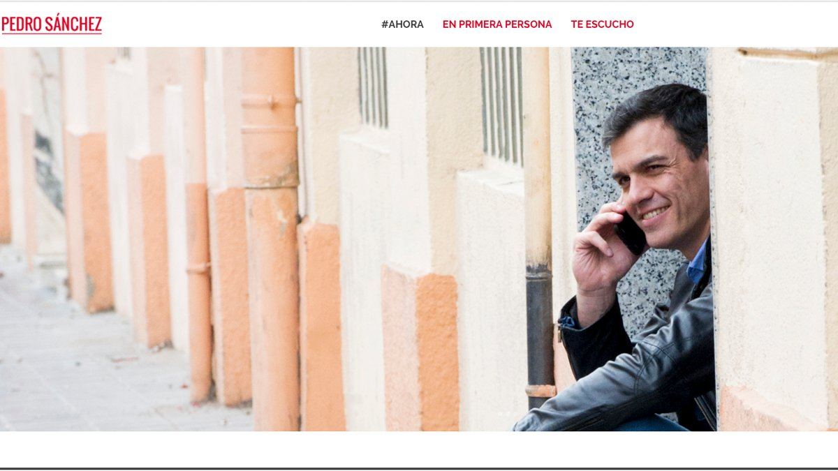 Nueva web de Pedro Sánchez.