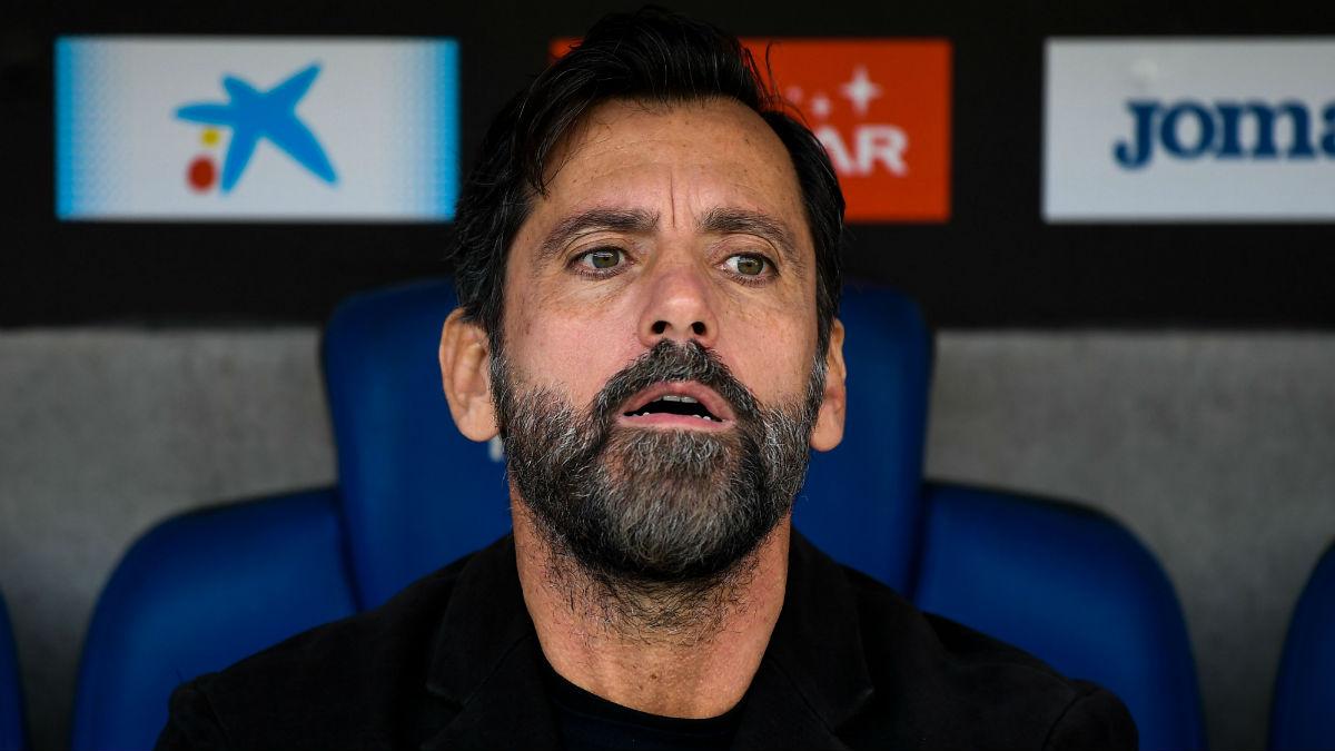 Quique Sánchez Flores en el banquillo del Espanyol. (Getty)