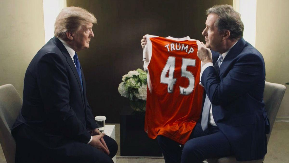 Bellerín no quiere a Trump como entrenador del Arsenal. (Twitter)