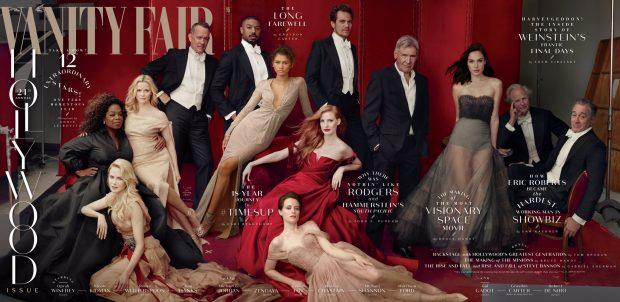 Grandes estrellas de Hollywood posan para 'Vanity Fair'.