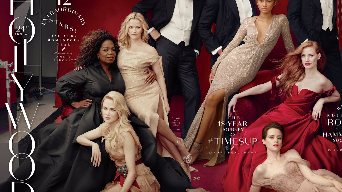 Reese Witherspoon con 'tres piernas' en 'Vanity Fair'.